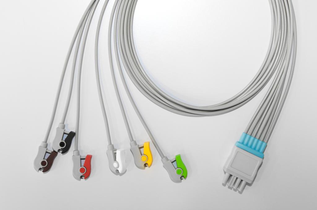 Câble ECG, 6 dérivations