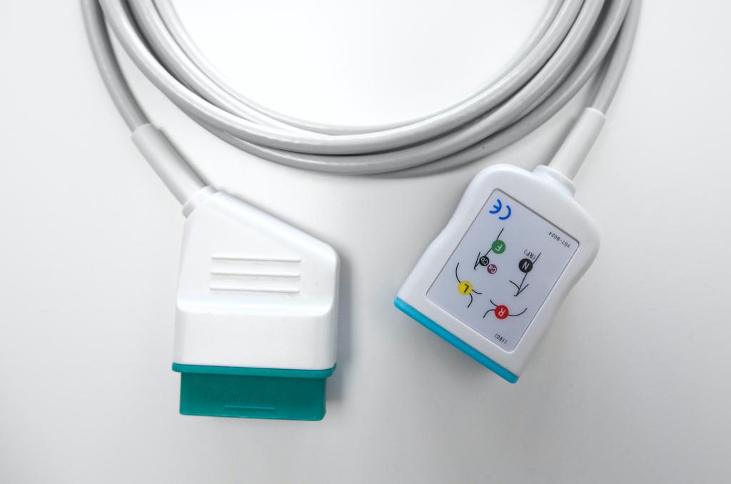 Câble patient ECG pour Nihon Kohden